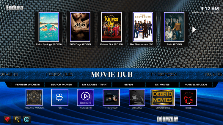 endura kodi build movies