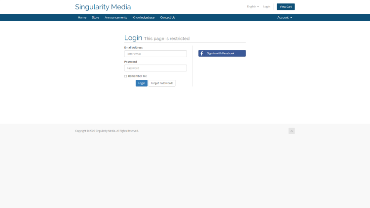 Singularity Media Login