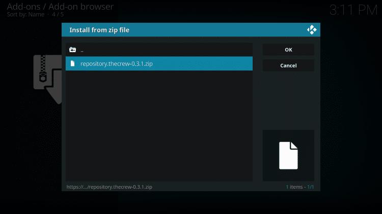 Select repository.thecrew-0.3.1.zip