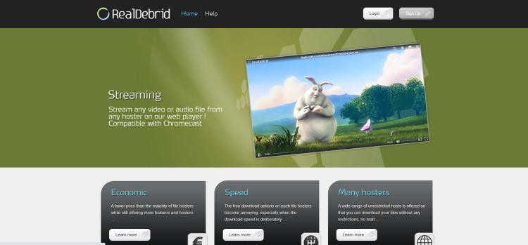 Visit real-debrid.com and choose Sign Up