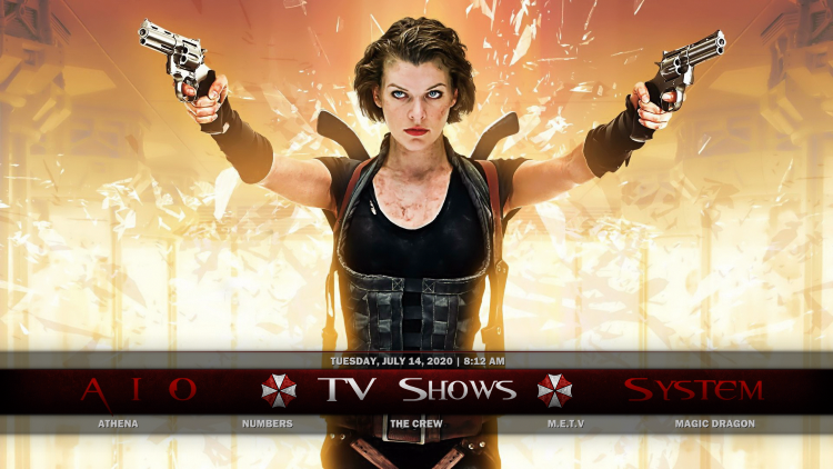 resident evil kodi build tv shows
