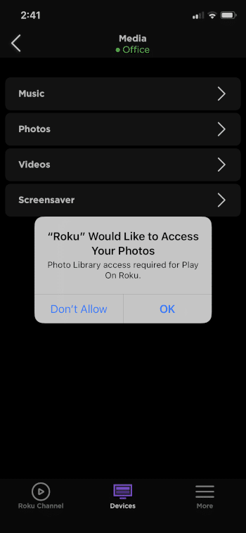 select OK