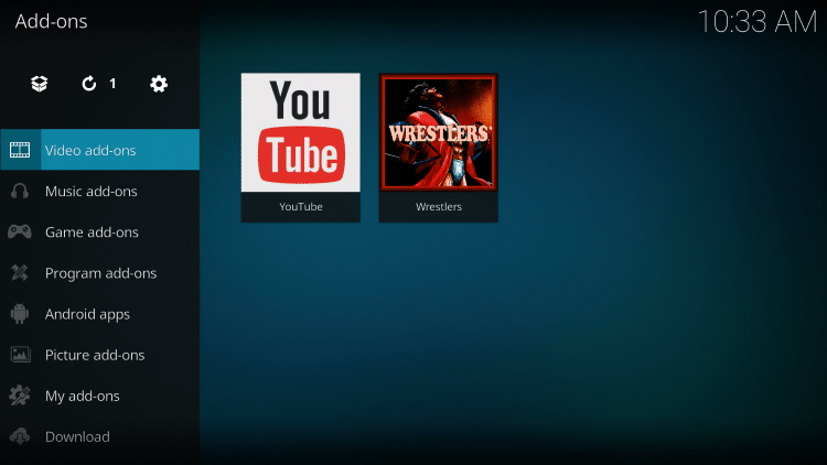 Select Video add-ons