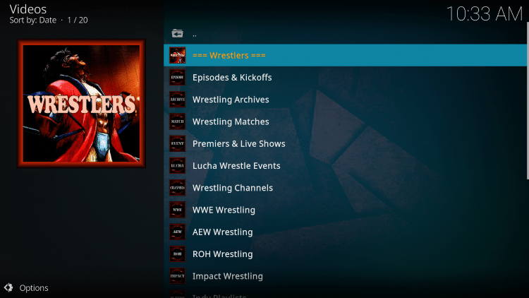That's it! The Wrestlers Kodi Addon is now successfully installed.