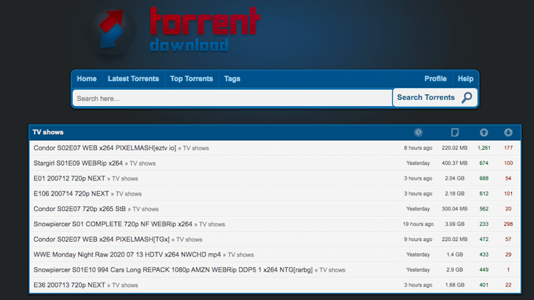 torrentdownload torrent search engine