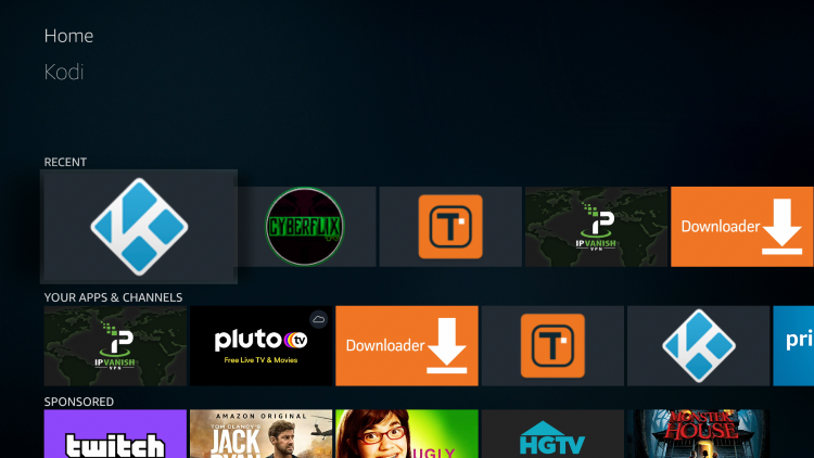 Re-open Kodi to see your build installed