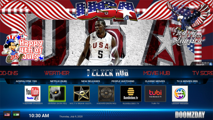 That's it! The USA Kodi Build is now successfully installed.