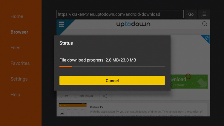 Step 19 - How To Install Kraken TV APK On Firestick:Fire TV Guide