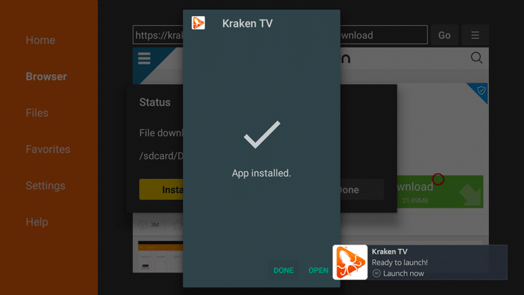 Step 21 - How To Install Kraken TV APK On Firestick:Fire TV Guide