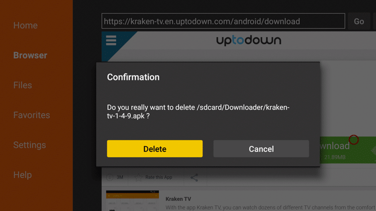 Step 23 - How To Install Kraken TV APK On Firestick:Fire TV Guide