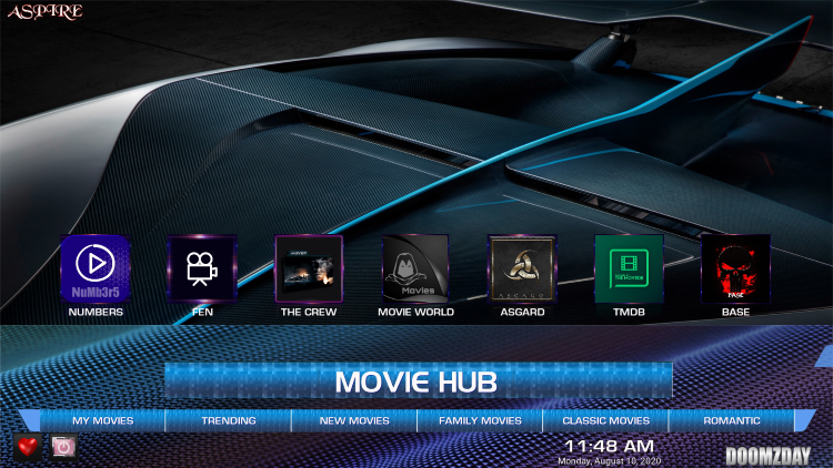 That's it! The Aspire Kodi Build is now successfully installed