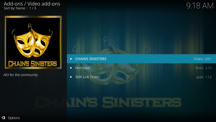 Select Chains Sinisters