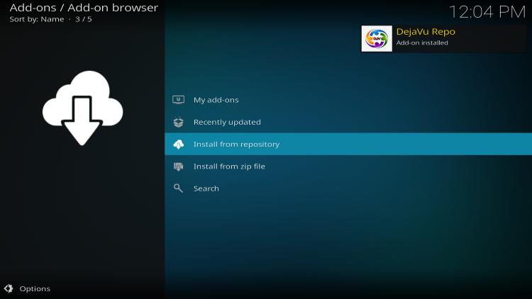 wait for dejavu add-on installed message