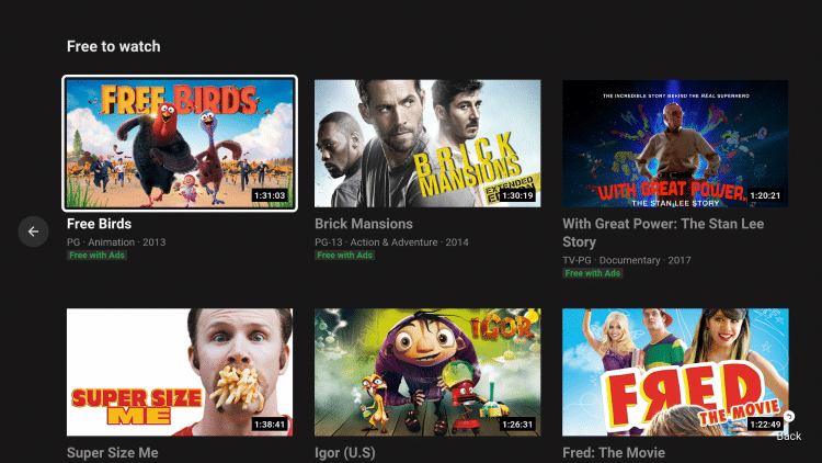 That's it! You can now watch free movies on YouTube using a Firestick/Fire TV.