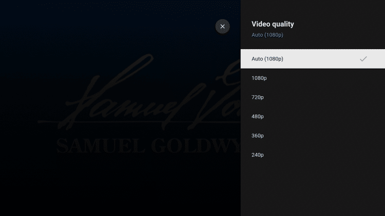 When watching free movies on YouTube, you can also change the video quality if you prefer.
