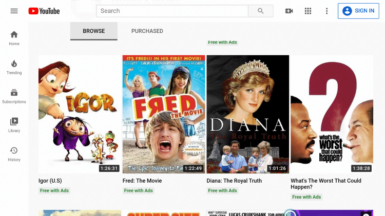 That's it! You can now watch free YouTube movies using the Silk Browser.