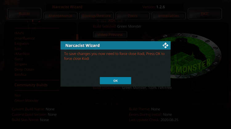 When this message appears click OK