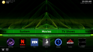 green monster kodi build movies