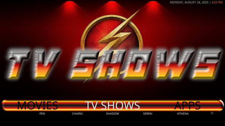 iconic kodi build tv shows
