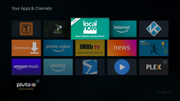 Place the Local Now app within your Apps & Channels wherever you prefer