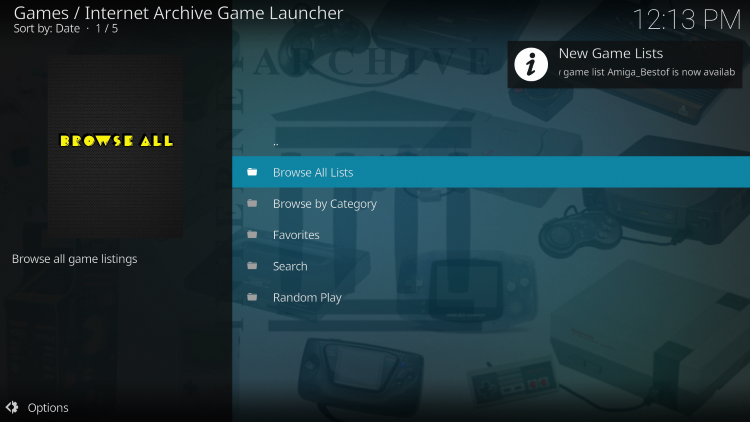 You have successfully installed the Internet Archive Game Launcher addon! Follow the additional steps below for how to play retro games.