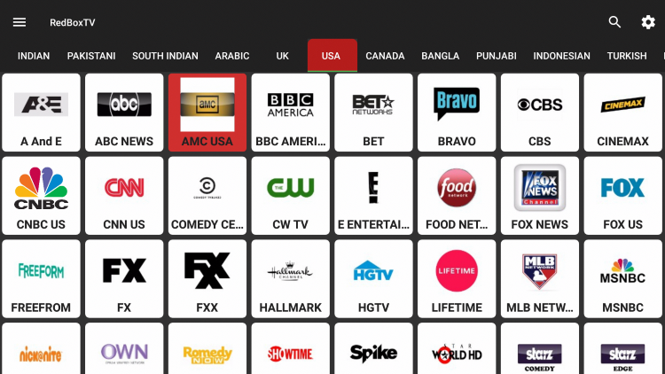 On the Redbox TV home screen, select any channel you want to be added to your Favorites.