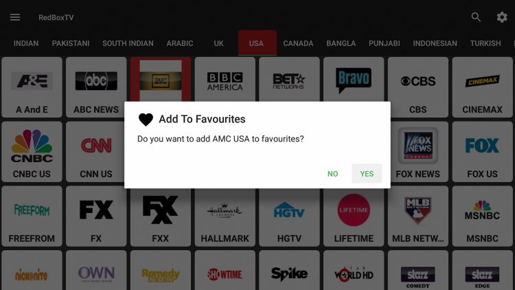 Hold down the OK button on your remote, then select Yes.