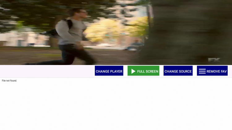After selecting a channel you can click the Full-Screen option for full-screen viewing.