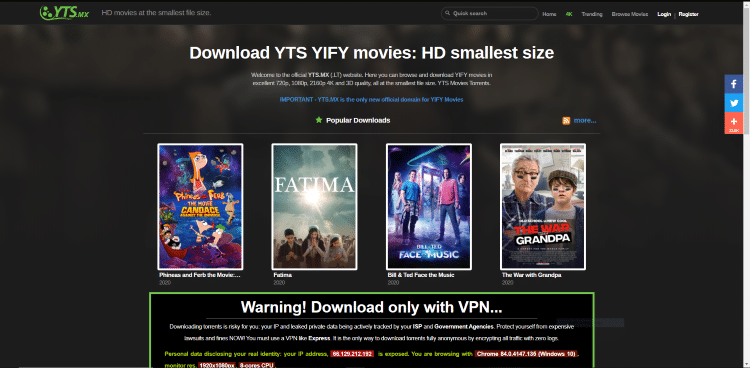 yts torrent site