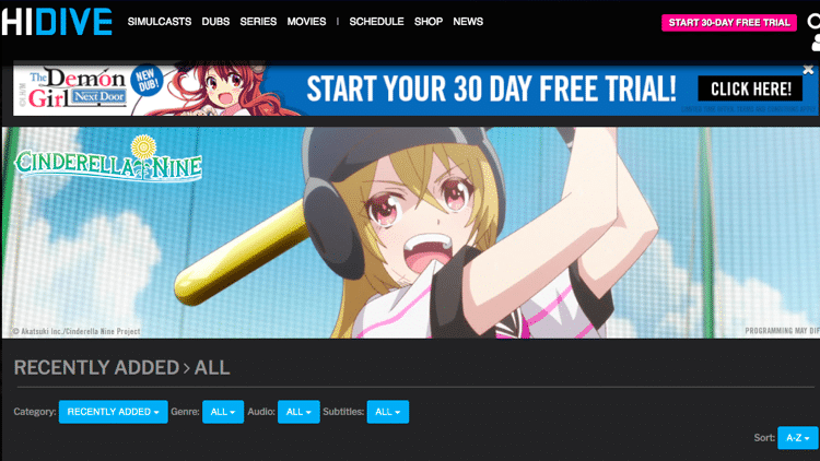 anime streaming sites hidive