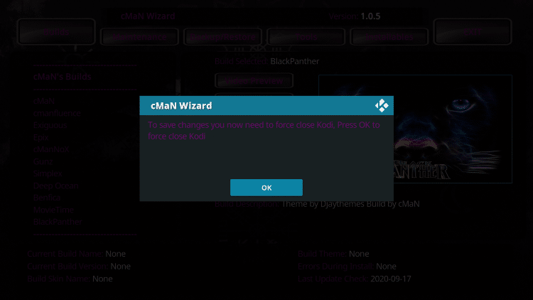 When this message appears clickOK