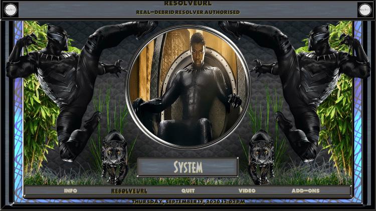 black panther kodi build system