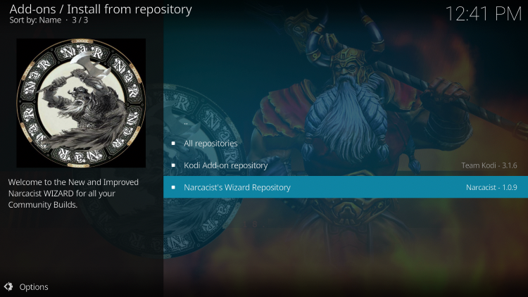 Click Narcacist's Wizard Repository