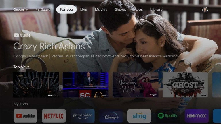 You will notice how the new Google TV operating system looks very similar to the Fire TV's interface.