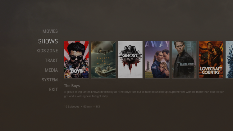 nocturnal kodi build tv shows