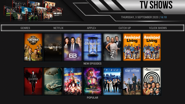noxos kodi build tv shows