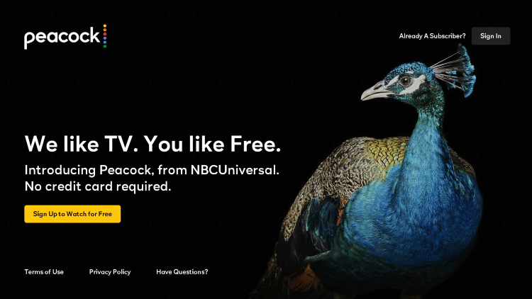 That's it! You have successfully installed the Peacock TV channel on your Roku device.