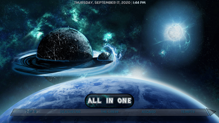 planetarium kodi build all in one