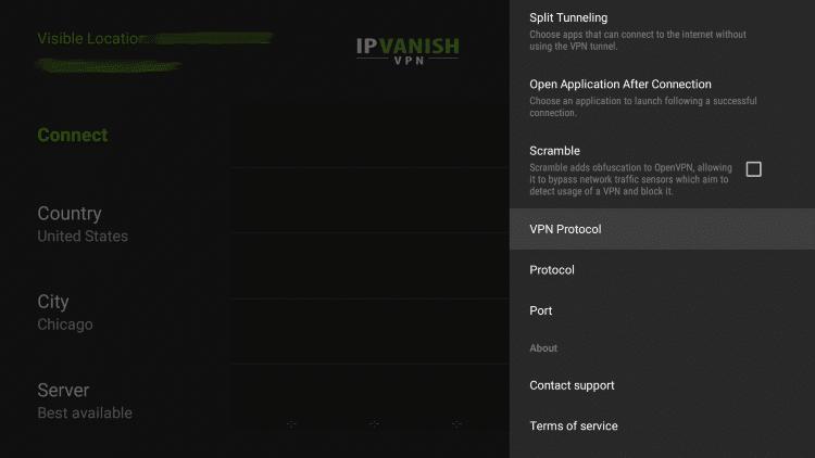 Select VPN Protocol