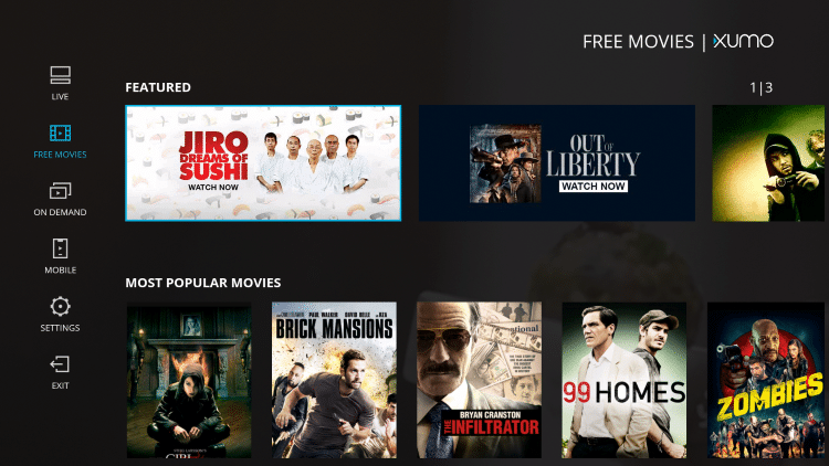 Enjoy watching free movies, on-demand content, live channels, and more!
