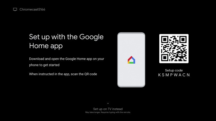 setup chromecast with Google TV