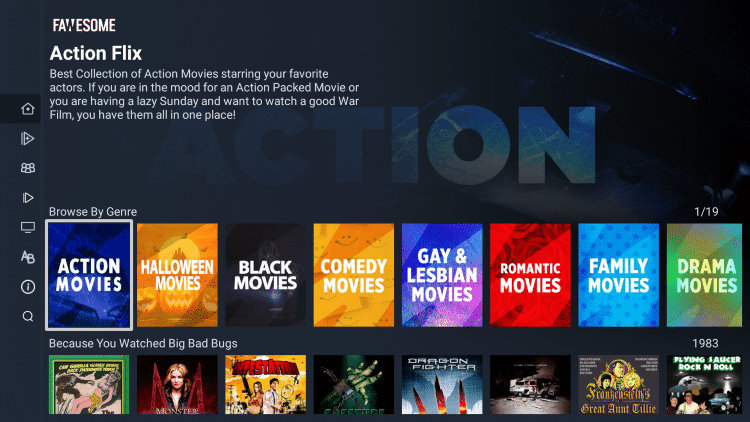 fawesome tv genres