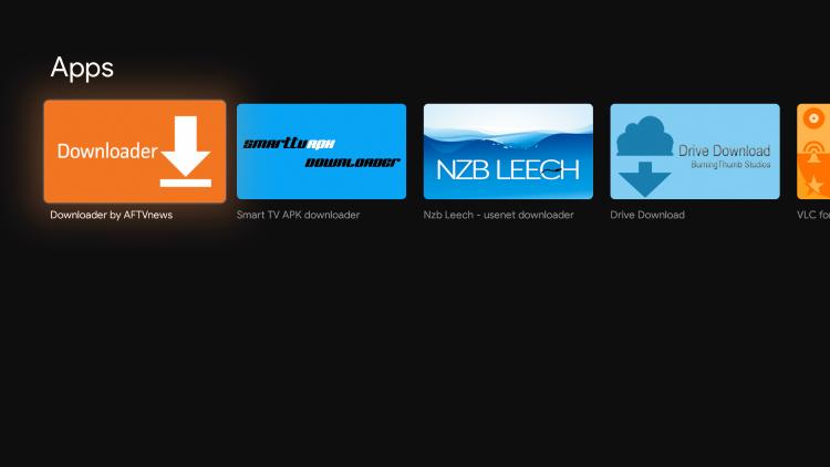 Select Downloader by AFTVnews under Apps