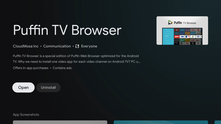 Once the app installs, return back to the home screen of your Chromecast with Google TV