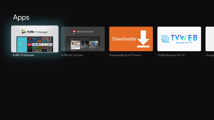 Select Puffin TV Browser