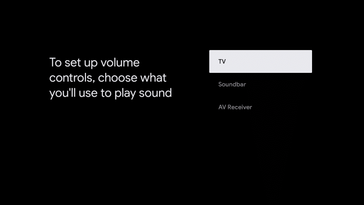 select device you'll use for sound
