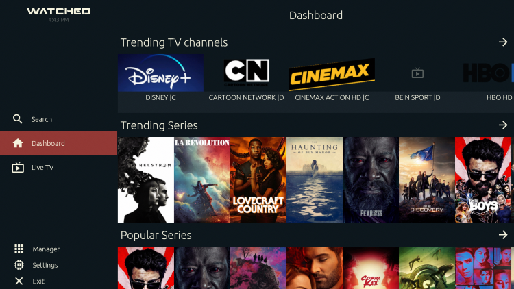 That's it! Notice the various categories of Movies and TV Shows you now have access to