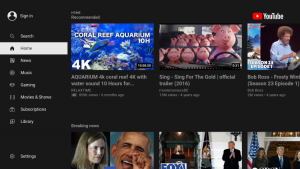 youtube with ads home