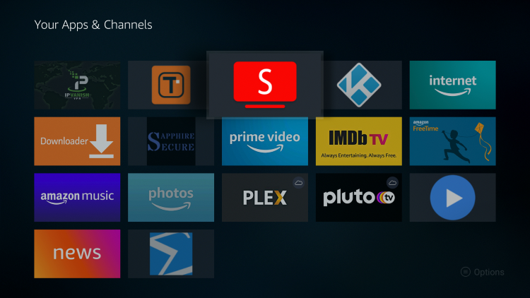 Place Smart YouTube TV wherever you prefer on your list of Apps and Channels