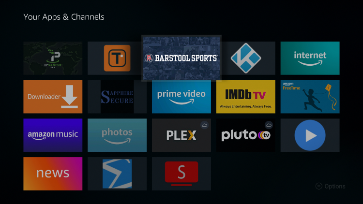 Place the Barstool Sports app within your Apps & Channels wherever you prefer